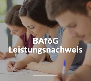 BAföG Amt Regensburg BAföG Leistungsnachweis