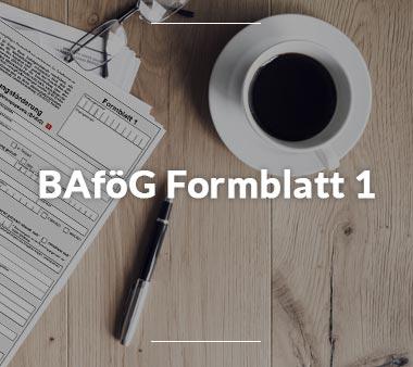 BAföG Formblätter BAföG Formblatt 1