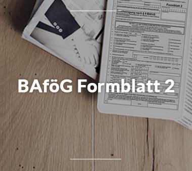 BAföG Formblätter BAföG Formblatt 2