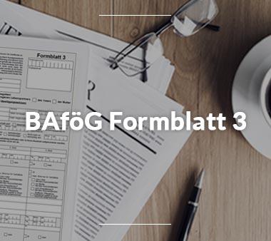 BAföG Formblätter BAföG Formblatt 3
