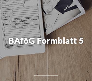 BAföG Formblätter BAföG Formblatt 5