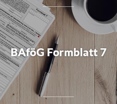 BAföG Formblätter BAföG Formblatt 7